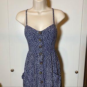 Showpo. Dresses - Blue & White | Button Down | Midi Dress